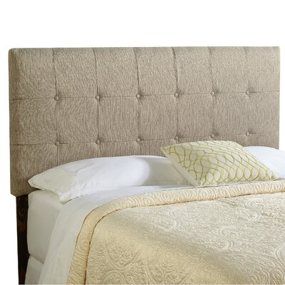 Dublin Upholstered Panel Headboard Size: Full, Upholstery: Textured Grey