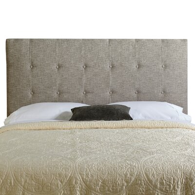 Dublin Upholstered Panel Headboard Size: King, Upholstery: Ash Grey