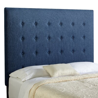 Dublin Upholstered Panel Headboard Size: Tall Queen, Upholstery: Navy Blue