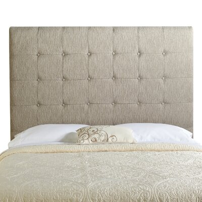 Dublin Upholstered Panel Headboard Size: Tall Queen, Upholstery: Textured Grey