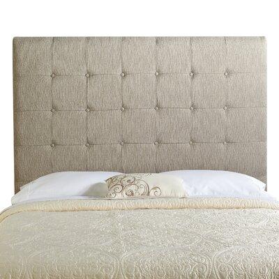 Dublin Upholstered Panel Headboard Size: Tall Full, Upholstery: Textured Grey