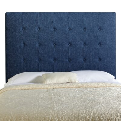 Dublin Upholstered Panel Headboard Size: Tall Full, Upholstery: Navy Blue