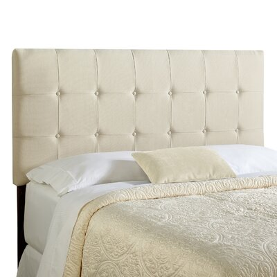 Dublin King Upholstered Panel Headboard Upholstery: Ivory