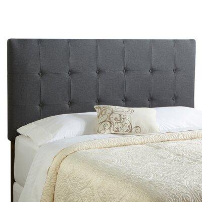 Dublin King Upholstered Panel Headboard Upholstery: Charcoal