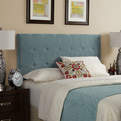 Dublin Upholstered Panel Headboard Size: King, Upholstery: Blue