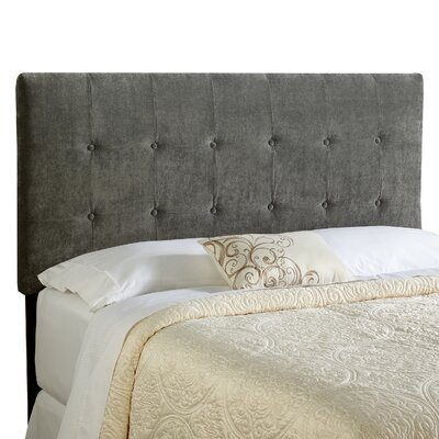 Dublin Upholstered Panel Headboard Size: King, Upholstery: Grey
