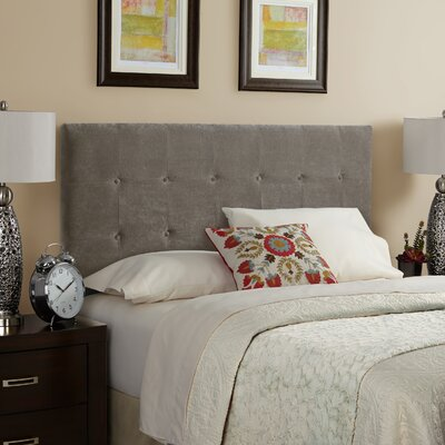 Dublin Upholstered Panel Headboard Size: King, Upholstery: Light Grey