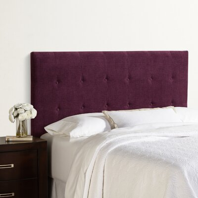 Dublin Upholstered Panel Headboard Size: King, Upholstery: Plum