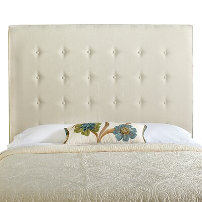 Dublin Upholstered Panel Headboard Size: Tall Queen, Upholstery: Ivory