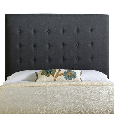 Dublin Upholstered Panel Headboard Size: Tall Queen, Upholstery: Charcoal