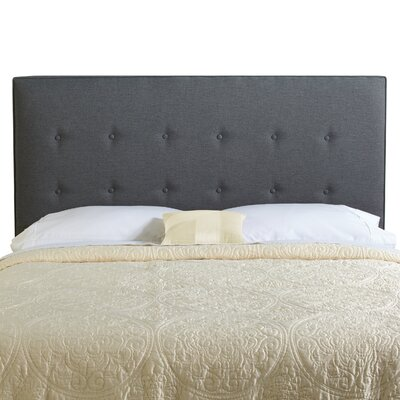 Dublin Upholstered Panel Headboard Size: King, Upholstery: Charcoal