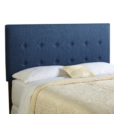 Dublin Upholstered Panel Headboard Size: Full, Upholstery: Navy Blue