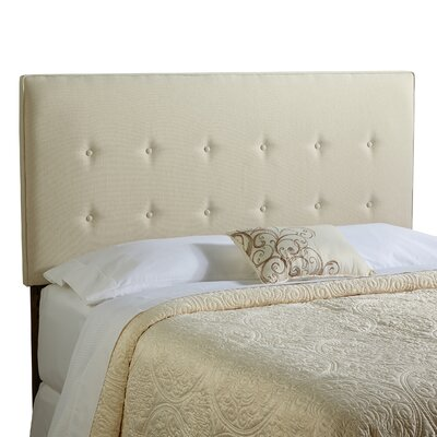 Dublin Upholstered Panel Headboard Size: King, Upholstery: Ivory