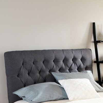 Dublin Upholstered Panel Headboard Upholstery: Charcoal Grey, Size: Queen