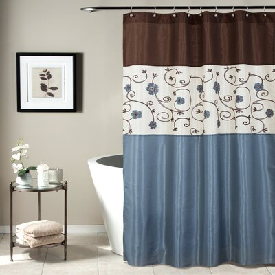 Delaware Shower Curtain Color: Blue