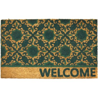 Savannah Heights Floral Doormat Rug Size: 16 x 24