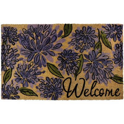 Savannah Heights Bloom Puffs Doormat Rug Size: 110 x 3