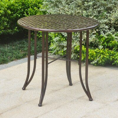 Dalmatia Bistro Table Finish: Hammered Bronze