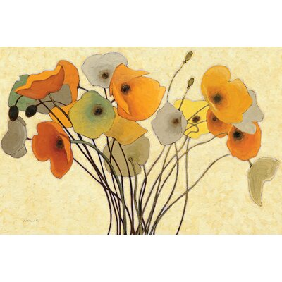 Pumpkin Poppies I Painting Print on Wrapped Canvas Size: 12