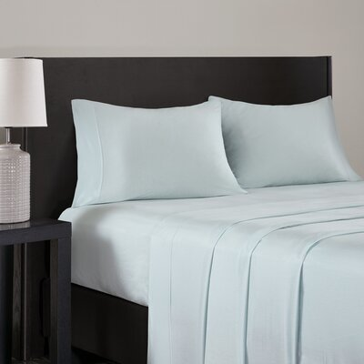 Elderton Modal Jersey Pillowcase Size: King, Color: Aqua