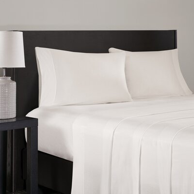 Elderton Modal Jersey Pillowcase Size: Standard, Color: Ivory
