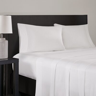 Elderton Modal Jersey Pillowcase Size: King, Color: White