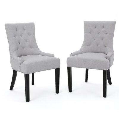 Grandview Side Chair Upholstery Type: Fabric - Light Grey