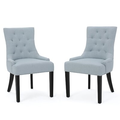 Grandview Side Upholstered Dining Chair Upholstery Type: Fabric - Light Sky