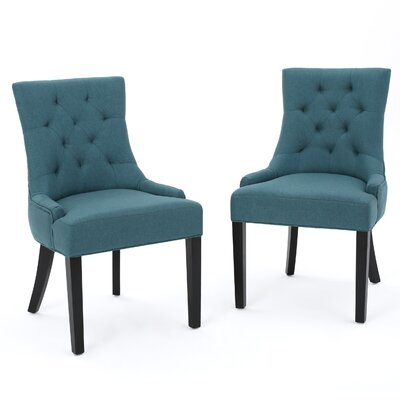 Grandview Side Upholstered Dining Chair Upholstery Type: Fabric - Dark Teal