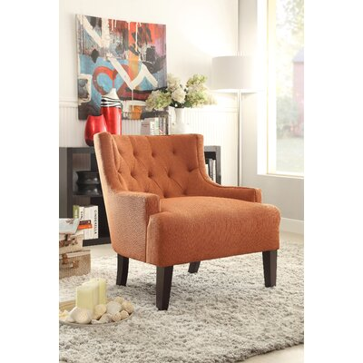 Royersford Arm Chair Upholstery: Orange