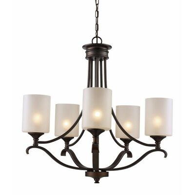 Glenshaw 5-Light Shaded Chandelier Finish: Rubbed Oil Bronze