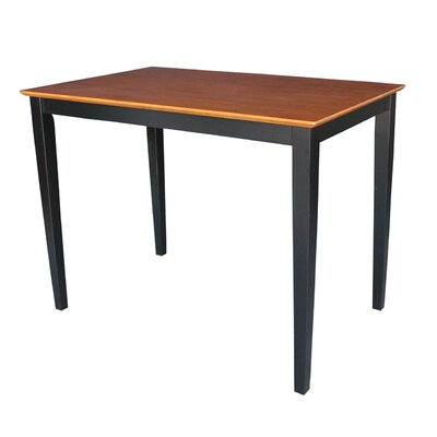 Glenside Counter Height Dining Table Finish: Black / Cherry