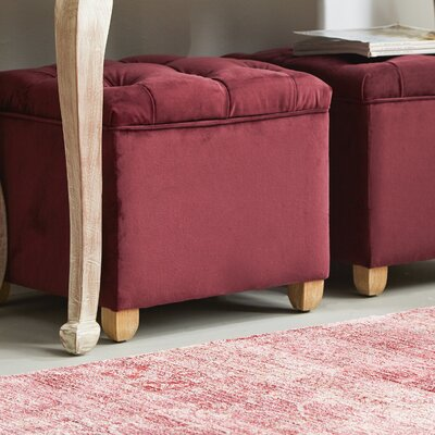 Eau Claire Storage Ottoman Upholstery: Berry