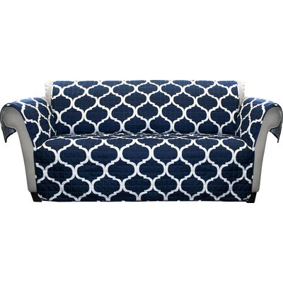 Dauberville Box Cushion Loveseat Slipcover Upholstery: Navy
