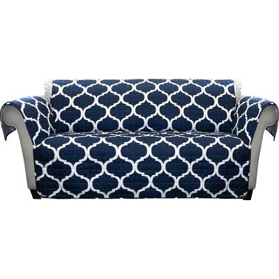 Dauberville Loveseat Slipcover Upholstery: Navy