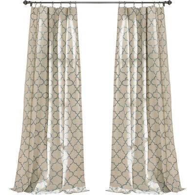 Alcott Hill Dauberville Light-Filtering Curtain Panels