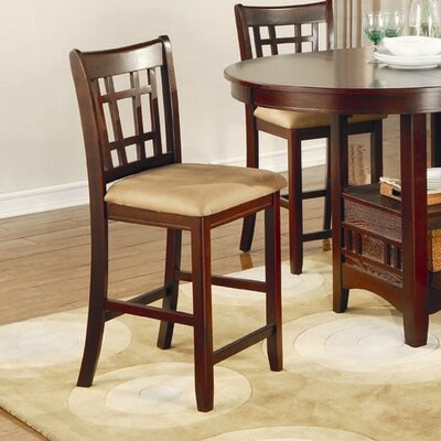 Norwalk 24 Bar Stool with Cushion Finish: Warm Brown