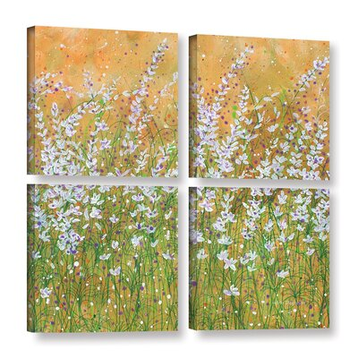 Sun Drenched 4 Piece Painting Print on Wrapped Canvas Set