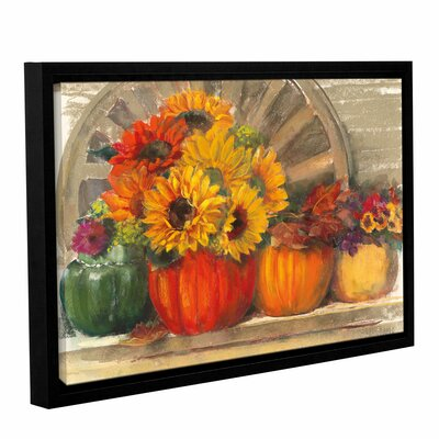 Autumn Still Life Framed Painting Print on Wrapped Canvas