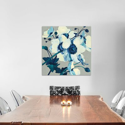 Anemones Japonaises II Painting Print on Wrapped Canvas