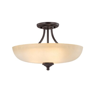 Farrell 3-Light Semi Flush Mount Finish: Burnished Bronze