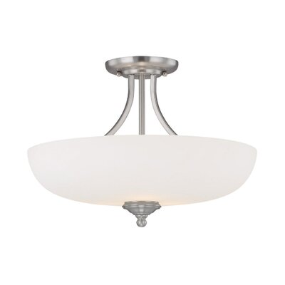 Farrell 3-Light Semi Flush Mount Finish: Matte Nickel
