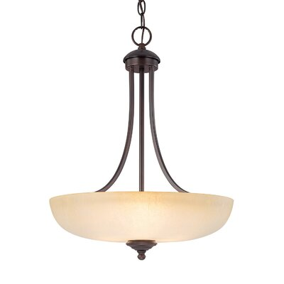 Farrell 3-Light Bowl Pendant Finish: Burnished Bronze
