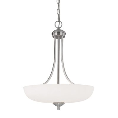 Farrell 3-Light Bowl Pendant Finish: Matte Nickel
