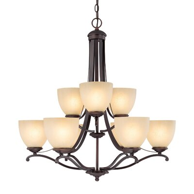 Farrell 9-Light Shaded Chandelier
