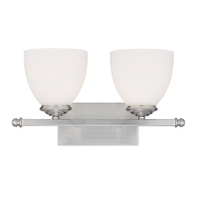 Farrell 2-Light Vanity Light Finish: Matte Nickel