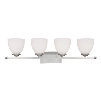 Farrell 4-Light Vanity Light Finish: Matte Nickel