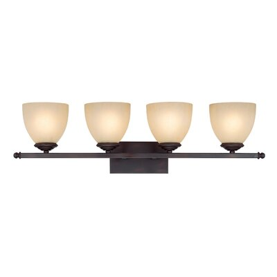 Farrell 4-Light Vanity Light Finish: Burnished Bronze