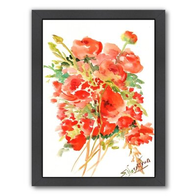 Buttercups Ranunculus Framed Painting Print