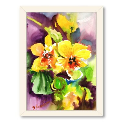 Orchids Framed Painting Print Frame Color: White